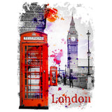 London Fusion Phone Box Women's T-shirt (White) - Urban Species Ladies Short Sleeved T-Shirt
