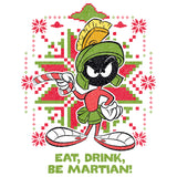 Cool New Looney Tunes Marvin Martian Xmas Eat Official Sweatshirt (White) - Urban Species Mens Sweatshirt