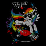 My Little Pony DJ RD Official Women's T-shirt (Black)