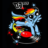 My Little Pony DJ RD 02 Official Women's T-shirt (Black)
