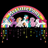 My Little Pony Retro Badge Official Men's T-shirt (Black)