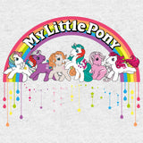 My Little Pony Retro Badge Official Women's T-shirt (Heather Grey)