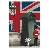 Peanuts Snoopy Remix UK Beefeater Official Women's T-shirt (White)
