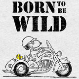 Peanuts Snoopy Sketch Born Wild Official Men's T-shirt (Heather Grey)