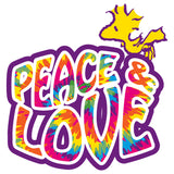 Peanuts Woodstock Peace Love Official Kid's T-Shirt (White)