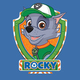 Cool New Paw Patrol Rocky Official Kid's T-Shirt (Royal Blue) - Urban Species