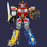 Power Rangers Megazord Deco Official Men's T-shirt (Navy) - Urban Species Mens Short Sleeved T-Shirt