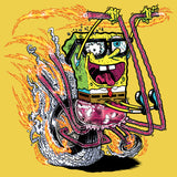 SpongeBob SquarePants Comic Bike Official Kid's T-Shirt (Yellow) - Urban Species Kids Short Sleeved T-Shirt