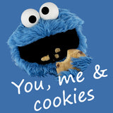 Sesame Street Cookie Monster You & Me Official Men's T-Shirt (Royal Blue) - Urban Species Mens Short Sleeved T-Shirt