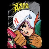 Speed Racer Close Up Official Men's T-shirt (Black) - Urban Species Mens Short Sleeved T-Shirt