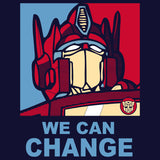 Transformers Obama Prime Official Women's T-shirt (Navy) - Urban Species Ladies Short Sleeved T-Shirt