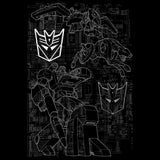 Transformers Soundwave Circuit Board Official Men's T-shirt (Black) - Urban Species Mens Short Sleeved T-Shirt