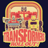 Transformers Toy TF Roll Out Official Men's T-shirt (Navy) - Urban Species Mens Short Sleeved T-Shirt