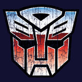Transformers Autobot Shield Distressed Official Men's T-shirt (Navy) - Urban Species Mens Short Sleeved T-Shirt