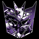 Transformers Decepticons Shield Megatron Official Women's T-shirt (Black)
