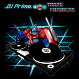 Transformers DJ Prime Mixing Official Men's T-shirt (Black)