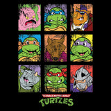 TMNT Group Grid Dist Official Men's T-shirt (Black) - Urban Species Mens Short Sleeved T-Shirt