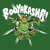 TMNT Mikey Booyakasha Official Men's T-shirt (Green) - Urban Species Mens Short Sleeved T-Shirt