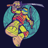 TMNT Leonardo Character Official Kid's T-Shirt (Navy) - Urban Species Kids Short Sleeved T-Shirt