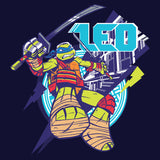 TMNT Leonardo Leo Official Kid's T-Shirt (Navy) - Urban Species Kids Short Sleeved T-Shirt