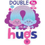Cool New Trolls Double Hugs Official Kid's T-Shirt (White) - Urban Species