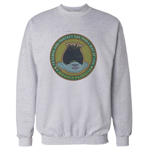 Cool New Trolls Branch Patrol Official Sweatshirt (Heather Grey) - Urban Species Mens Sweatshirt