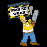 The Simpsons Homer Graphic Man Work Official Men's T-Shirt (Black) - Urban Species Mens Short Sleeved T-Shirt