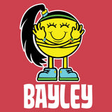 WWE Bayley Logo Little Miss Official Women's T-shirt (Red) - Urban Species Ladies Short Sleeved T-Shirt