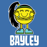 WWE Bayley Logo Little Miss Official Men's T-shirt (Royal Blue)