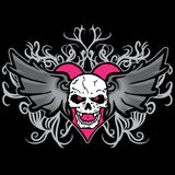 WWE Bret Hart Logo Winged Skull Tatt Official Women's T-shirt (Black)