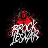 WWE Brock Lesnar Cracked Official Men's T-shirt (Black)