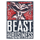 WWE Brock Lesnar Poster Beast Distressed Official Women's T-shirt (White) - Urban Species Ladies Short Sleeved T-Shirt
