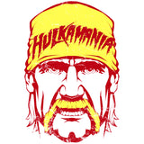 WWE Hulkamania Face Official Women's T-shirt (White) - Urban Species Ladies Short Sleeved T-Shirt