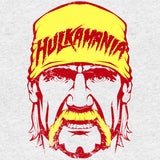 WWE Hulkamania Face Distressed Official Men's T-shirt (Heather Grey) - Urban Species Mens Short Sleeved T-Shirt