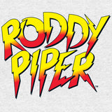 WWE Rowdy Roddy Piper Logo Official Men's T-shirt (Heather Grey)