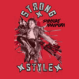 WWE Shinsuke Nakamura Splash Strong Style Official Men's T-shirt (Red)