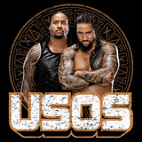 WWE USOS Tribal Shield Logo Official Varsity Jacket (Black)
