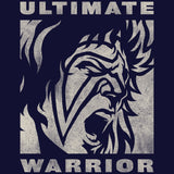 WWE Ultimate Warrior Face Distressed Official Women's T-shirt (Navy)