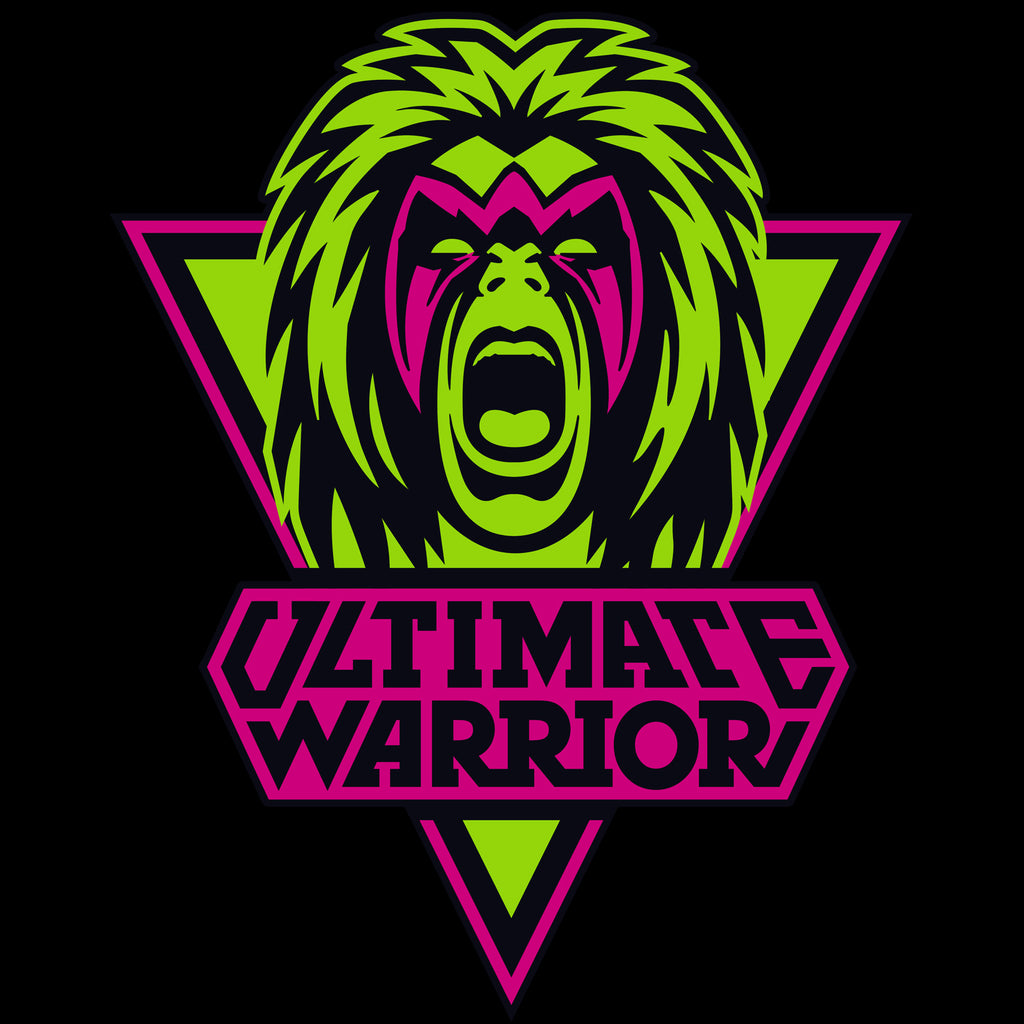 Wwe Ultimate Warrior Logo Face Official Men S T Shirt Black Urban Species