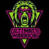 WWE Ultimate Warrior Logo Face Official Men's T-shirt (Black)