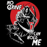 WWE Undertaker Grim Reaper Grave Official Men's T-shirt (Black)