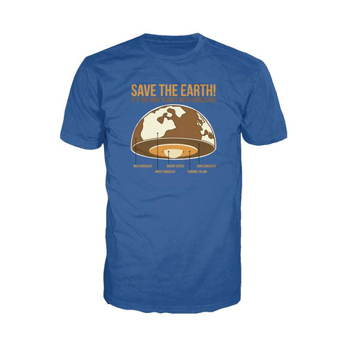 I Love Science Save The Earth - Chocolate (Royal Blue)