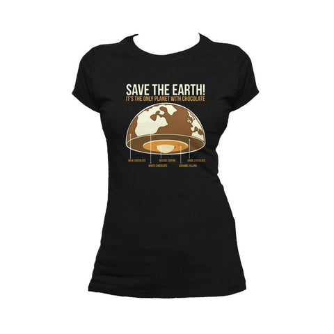 I Love Science Save The Earth - Chocolate (Black)