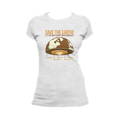 I Love Science Save The Earth - Chocolate (Heather Grey)