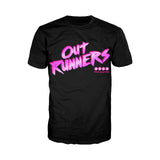 4 Quarters Logo Outrunners Official Men's T-shirt (Black) - Urban Species Mens Short Sleeved T-Shirt