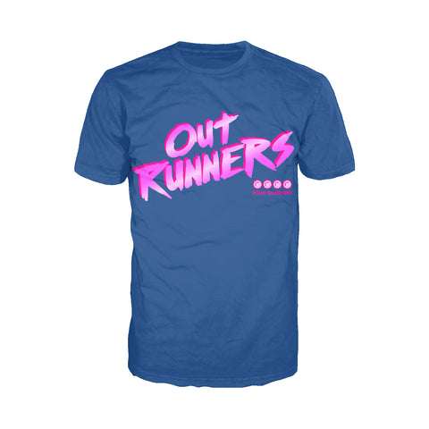 4 Quarters Logo Outrunners Official Men's T-shirt (Royal Blue) - Urban Species Mens Short Sleeved T-Shirt