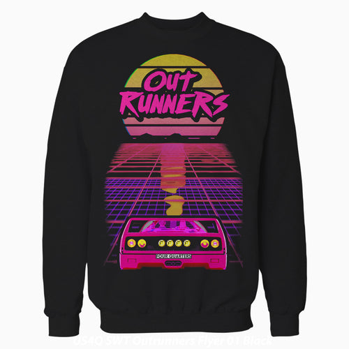 4 Quarters Outrunners Flyer Official Sweatshirt (Black) - Urban Species Mens Sweatshirt