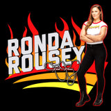 WWE Ronda Rousey Cover Official Women's T-shirt (Black)