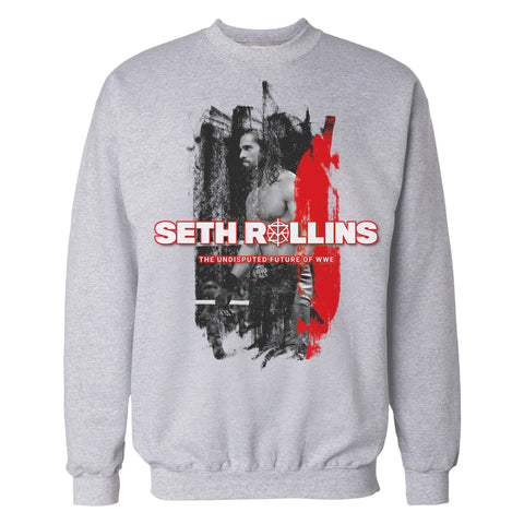 WWE Seth Rollins Undisputed Official Sweatshirt (Heather Grey) - Urban Species Mens Sweatshirt