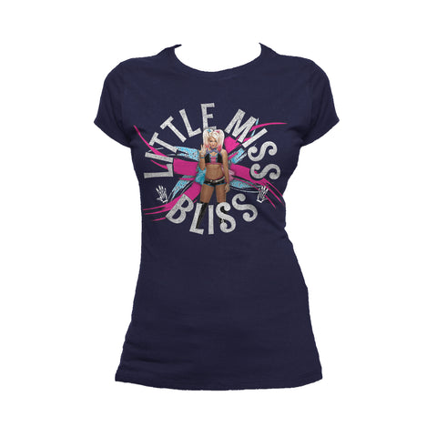 Cool New WWE Alexa Bliss Little Miss Official Women's T-shirt (Navy) - Urban Species Ladies Short Sleeved T-Shirt
